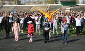 Коллективная зарядка в городе Рыбинске