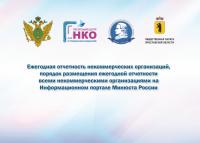 Ежегодная отчетность некоммерческих организаций, порядок размещения ежегодной отчетности всеми некоммерческими организациями на Информационном портале Минюста России